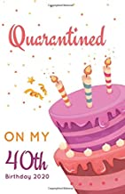 Quarantined on My 40th Birthday 2020: Funny Quarantine Birthday Notebook Gift, 40th Birthday Quarantine Gift Ideas For Mom and Dad, Perfect Bday Presents for Journal, Doodling, Sketching and Notes.