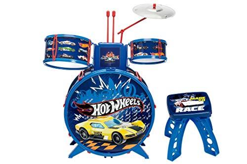 Bateria Infantil Radical Hot Wheels Azul