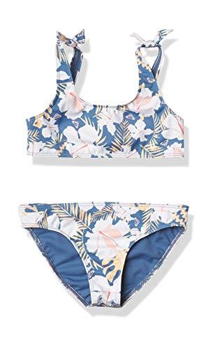 Roxy Girls' Swim Lovers Bralette Two Piece Swimsuit Set, Moonlight Blue Team Garden, 5