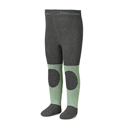 Sterntaler - Jungen Strumpfhose Thermo Strumpfhose Krabbel Strumpfhose mit Po-Motiv, grün - 8751702, Größe 74