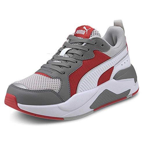 PUMA X-Ray JR, Sneaker, (Gray Violet White/Ultra Gray/High Risk Red), 37 EU