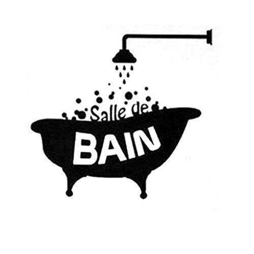 Aulley Baignade douche baignoire PVC porte autocollant imperméable à l'eau Stickers muraux Décoration