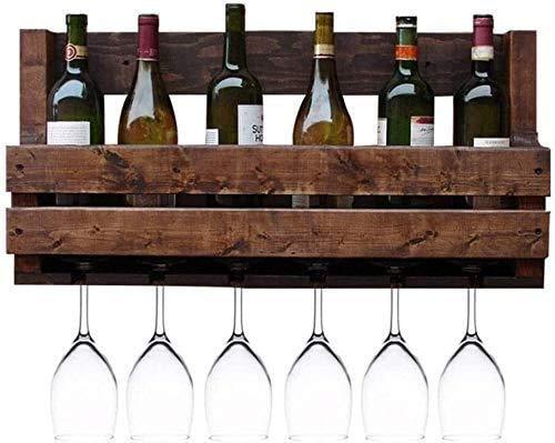 Estante De Almacenamiento Multifuncional Montado En La Pared Estante De Vino Y Champán Estante De Botellas De Vino Estante De Botellas De Vino De Pino Natural Almacenamiento De Gran Capacidad De Carg