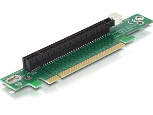 Delock 89105 gewinkelt Riser PCI-Express Karte (16x Slot) für 48,3 cm (19 Zoll) Gehäuse
