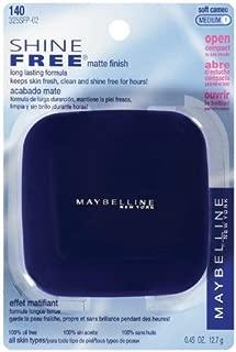 Maybelline New York Shine Free Oil Control Pressed Powder, Soft Cameo Medium [1] 0.45 oz (Pack of 2)