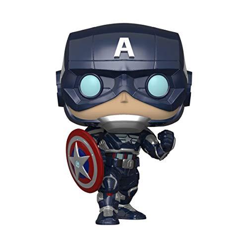 Funko - Pop! Marvel: Avengers Game - Capt America Figurina, Multicolor (47757)