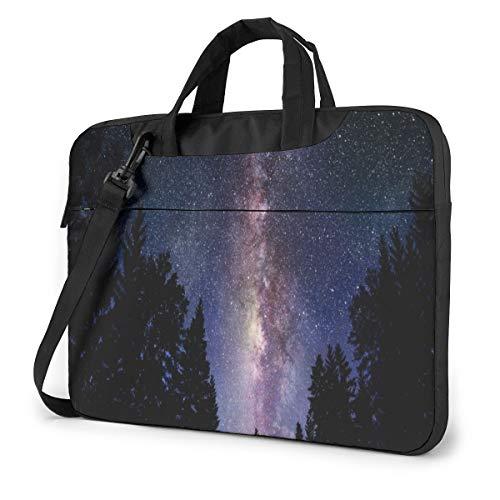 Star Night Forest Laptop Bag Shockproof Briefcase Tablet Carry Handbag for Business Trip Office 14 inch