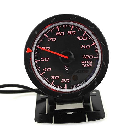 12V Vehículos de coche 60mm Indicador de sensor de temperatura de agua rojo Medidor de camión RV 20 a 120 grados Celsius