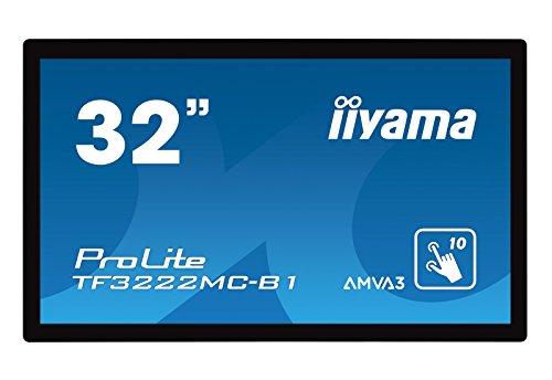 iiyama ProLite TF3222MC B1 80cm 315 PCAP Multitouch Full HD Einbaumonitor mit 10 Touchpunkten VGA DVI Schwarz