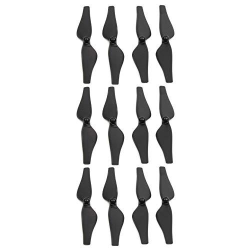 DR1 - Hélices para Drones dji Tello, Bajo Ruido, Liberación Rápida, Diseño Aerodinámico, Ruido Mínimo, Alto Rendimiento - 3 Sets Completos - Negro y Plata