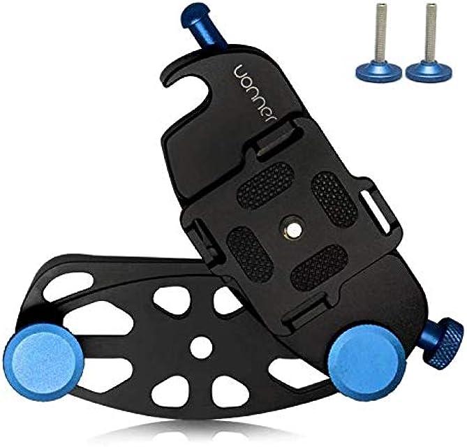 Quick Release Clip Plate Cámara Cinturón uonner Cámara Correa Cintura Hebilla kamerahalterung Spider Azul con Placa de estándar para Canon Nikon Sony DSLR Cámaras GoPro Azul