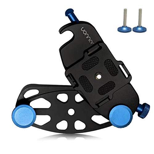 Quick Release Clip Plate Cámara Cinturón, uonner Cámara Correa Cintura Hebilla kamerahalterung Spider Azul con Placa de estándar para Canon Nikon Sony DSLR Cámaras GoPro Azul