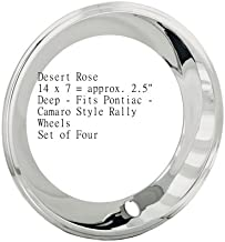 14x7 California Chrome Plated Stainless Steel Beauty Trim Rings Pontiac Ralley