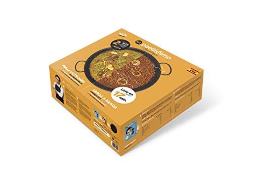 Paellíssimo - Pack con 1 PAELLERA para Inducción, Vitro, Fuego y Horno de 32cm + 2 KIT de ARROZ | Arroz a Banda (2-3 personas) + Paella Valenciana (2-3 personas)