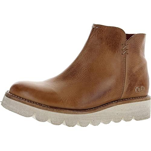 Bed|Stu Women's Lydyi Short Leather Bootie (9, Tan Rustic)