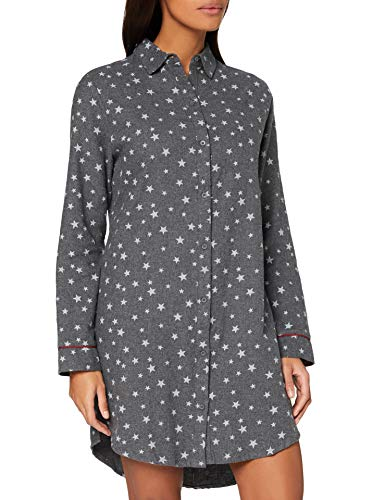 ESPRIT Womens KHLEA CAS NW Night Standard Nightgown, 011/Anthracite 2, UK 12