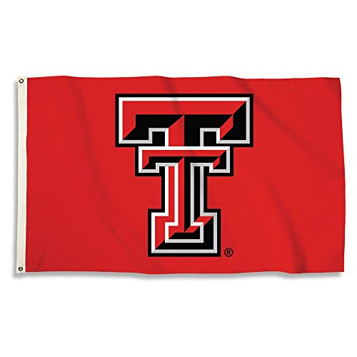 BSI NCAA Texas Tech Red Raiders 3 X 5 Foot Flag with Grommets,