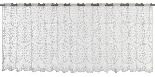 Elbersdrucke Circolo 00 Bistrogardine, Polyester, weiß, 45 x 160 cm