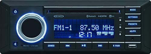 Jensen JWM72A 3-Speaker Zones Slimline DVD USB AUX HDMI App Ready Bluetooth Wallmount Stereo, Speaker Output 8X 6 Watt, Plays: CD/CD-R/CD-RW/DVD/DVD+R/DVD+RW/DVD-R/DVD-RW/MP3/WMA/JPEG