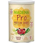 MADENA PRO Classic - naturbelassener, veganer Protein Shake | über 20% BCAA | Diät-Shake | lactosefrei und glutenfrei | Reisprotein + Erbsenprotein + Granatapfelextrakt mit mehr als 50% Polyphenolen