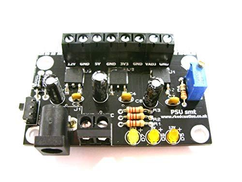 Quad Ausgang SMT PSU mit LD1117 V33, 7805 und LM317 selbst aufzubauen Kit