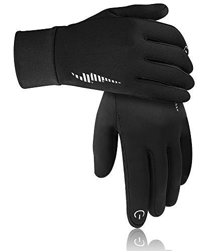 Warm Winter Gloves Windproof Touchscreen Running Workout Gloves for Men Women
