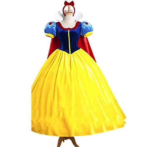 GUOQUN-SHOP Disfraz Reina de Halloween del Traje de Cosplay Mujer Vampiro Vestido de Princesa Blancanieves (Color : A, Size : M)