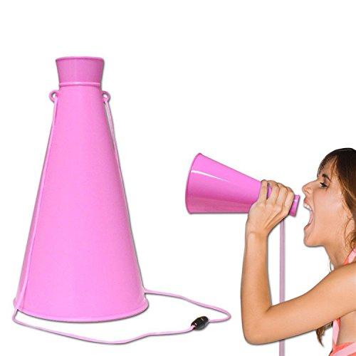 "Windy City Novelties 9"" Plastic Megaphone Cheerleading Noisemaker Party Favor (Pink)"