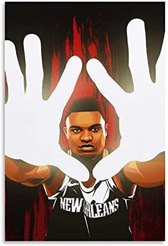 IOIP Lienzos De Fotos 60x80cm Sin Marco Jugador de Baloncesto Zion Williamson Star póster 6 póster Decorativo Arte de Pared Carteles de Sala de Estar Dormitorio