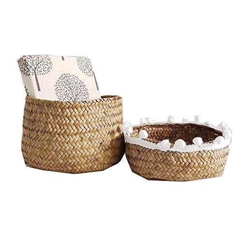 SZETOSY Caja de pasto marino – GOODCHANCEUK Sundries Stroage Cesta con cubierta para caramelos, medicinas, cosméticos,...