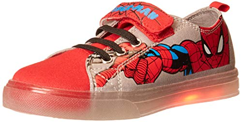Favorite Characters Spiderman Lighted Canvas Low SPS712 (Toddler/Little Kid) Red 11 Little Kid