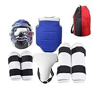子供用ボクシング保護具、レスリング用、三田、空手、戦闘訓練用保護具、テコンドー保護具キット,S