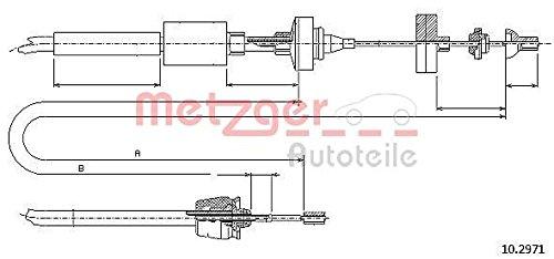 Metzger 10.2971 COFLE Seilzug, Kupplungsbetätigung