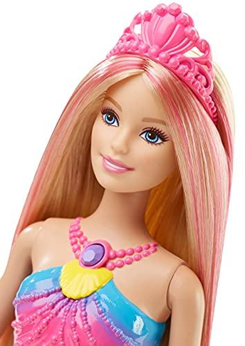 Barbie Sirène Magique de Couleurs Queue Lumière - 4