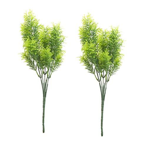 perfk 2 Stück Künstlicher Zedernbaum 30 cm Hoch Kunststoff Grün Indoor Outdoor Dekor