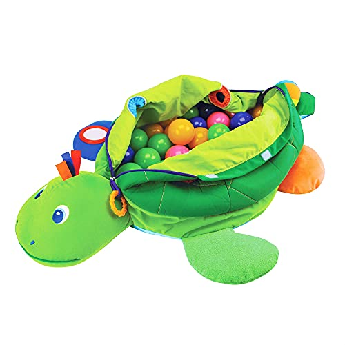 Melissa & Doug Turtle Ball Pit (Baby Toy, 60 Balls)