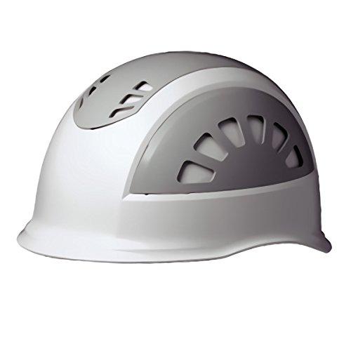 ミドリ安全 ヘルメット 作業用 ABS製 通気孔付 消臭汗止内装 SC17BV RA NS KP付 ホワイト/グレー