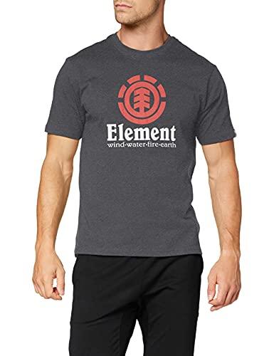 Element Vertical Ss T-shirt, Uomo, XS, Grigio (Charcoal Heathe 0519)