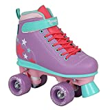 LMNADE Vibe Semi-Soft Vegan-Friendly Kids Recreational Roller Skates - Ideal Beginner Roller Boots for Girls. Suitable for Both Indoor and Outdoor Use