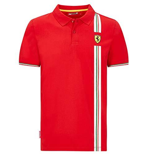 Scuderia Ferrari - Polo Tricolore, Colore: Rosso (XL)