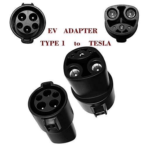 EV Adapter für Elektrofahrzeug Tesl 60A, Typ 1 J1772 zu Tesla, Mit Typ 1 EV ladekabel Verbinden Tesla EV