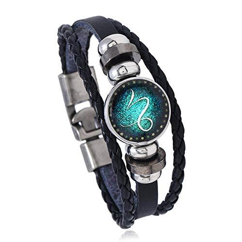 YNNANGG Armbänder12 Constellation Edelstein-Lederarmband