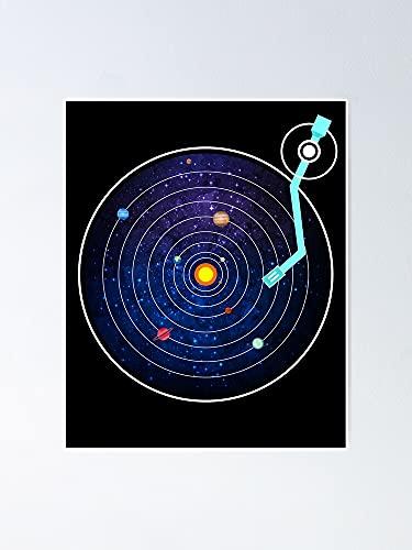 Situen Galaxy Vinyl Dj Poster - For Playroom Decor, Kids Printables, Nursery Wall Art, Printable Room Aldult Decor.