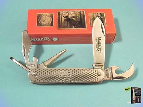 "Folding Pocket Knife Marbles MR278 GI UTILITY stainless Folding Pocket Knife/bail 3 5/8"" closed + Free eBook by SURVIVAL STEEL"