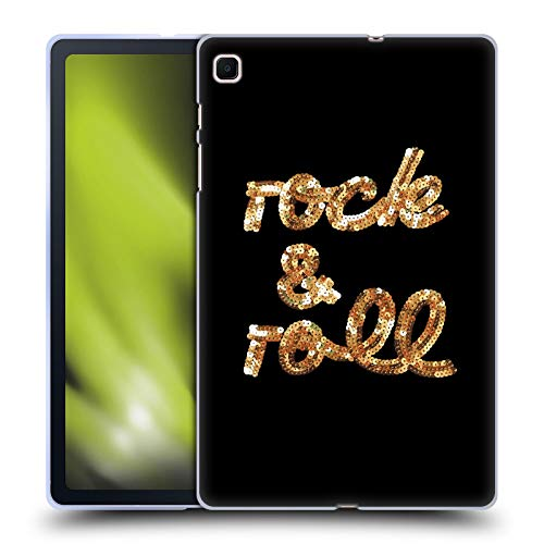 Head Case Designs Ufficiale Anis Illustration Rock And Roll Tipografia Cover in Morbido Gel Compatibile con Samsung Galaxy Tab S6 Lite