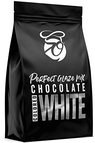 CAKEZO | PERFECT GLAZE Chocolate Mix WHITE, Mirror Glaze – Torten-Spiegelglasur mit hochwertiger Schokolade 750g