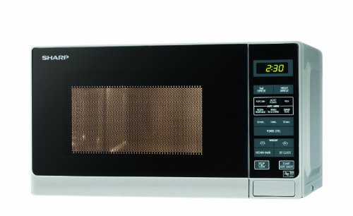 Sharp R272SLM Solo Touch Control Microwave, 20 Litre capacity, 800W, Silver
