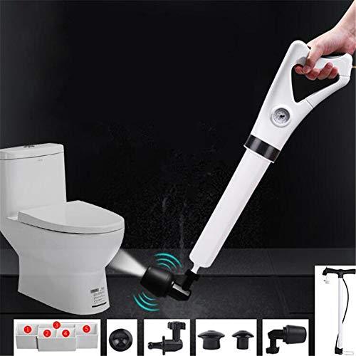ZXL Saugglocken & Halter Haushalts-Toiletten Bad Sewer Dredge Hochdruck Luftabfluss Blaster Pump Plunger Sink Pipe Clog Remover Cleaner Kit