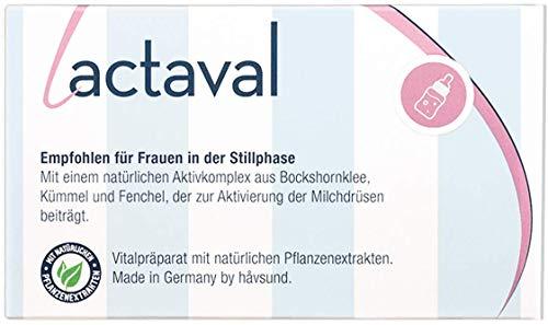 håvsund lactaval - Nahrungsergänzung mit Bockshornklee, Fenchel, Kümmel für die Stillzeit - Hergestellt in Deutschland Monatspackung 60 Kapseln