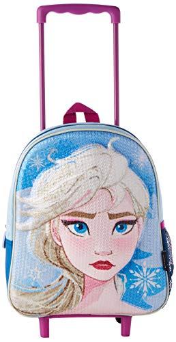 Cerdá, Mochila con Ruedas Infantil 3D de Frozen 2 con Lentejuelas-Licencia Oficial Disney Studios Unisex niños, Multicolor, 260X310X100MM